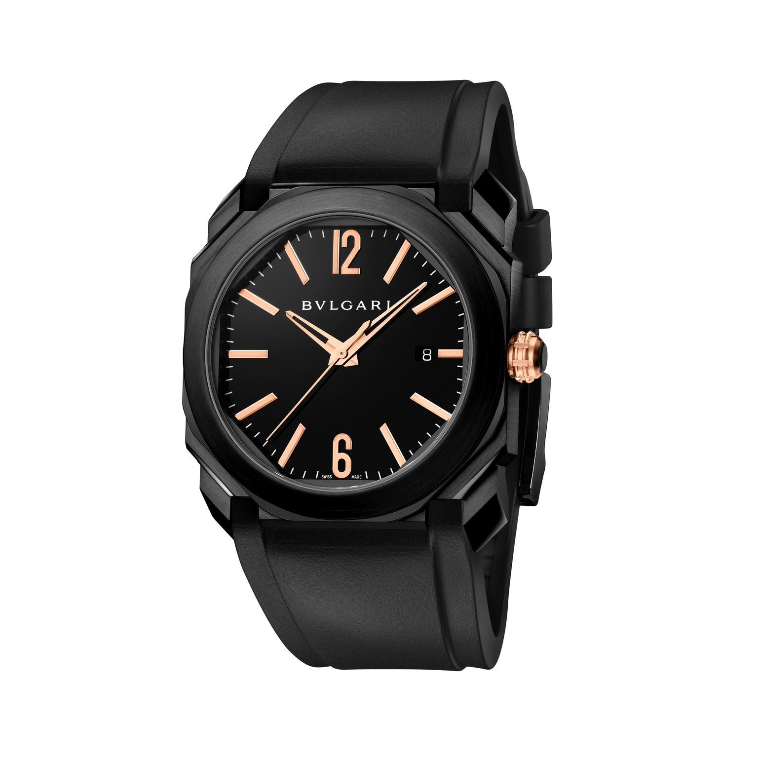 Bulgari Octo Tuttonero watch white background
