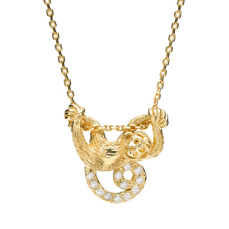 Elizabeth Showers monkey pendant