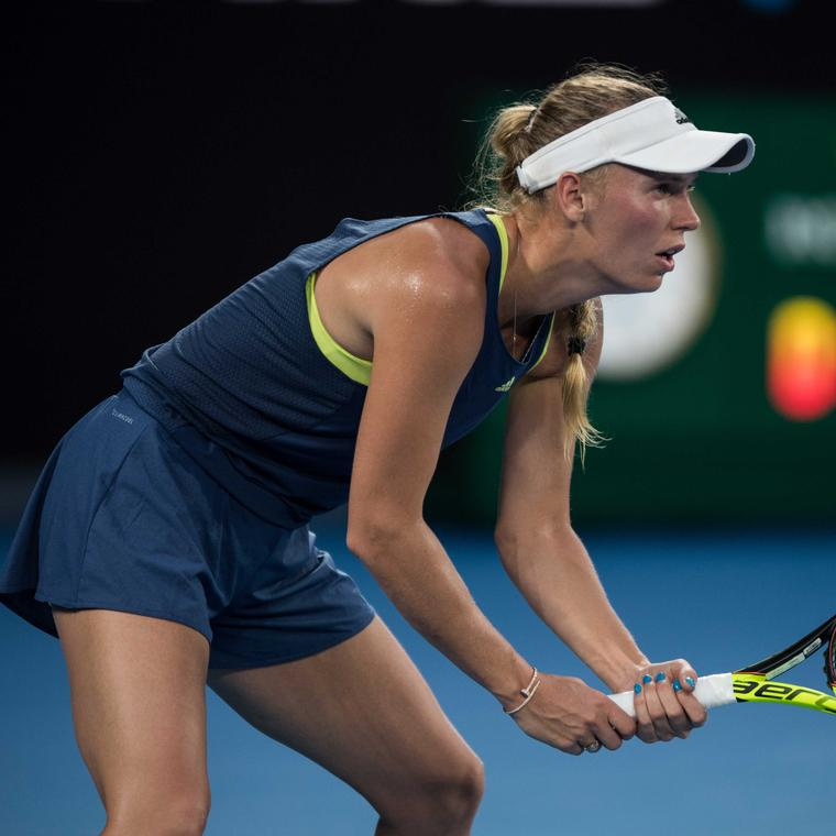 Caroline Wozniacki in the Australian Open womens finals