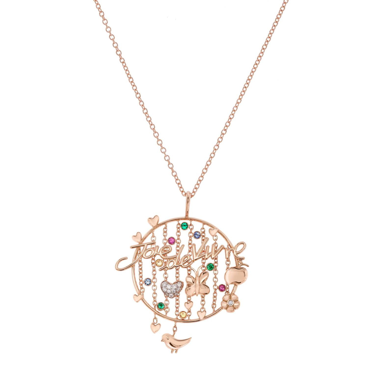 Francesca Villa Joie de Vivre rose gold necklace