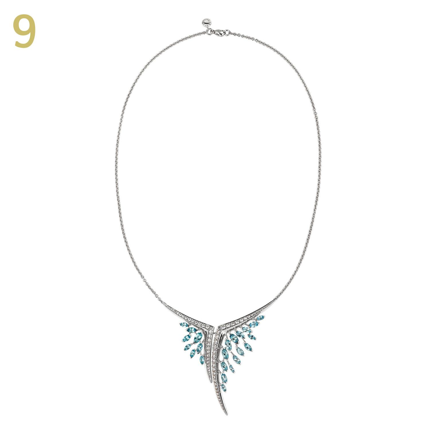 Shaun Leane aerial necklace aquamarine diamond