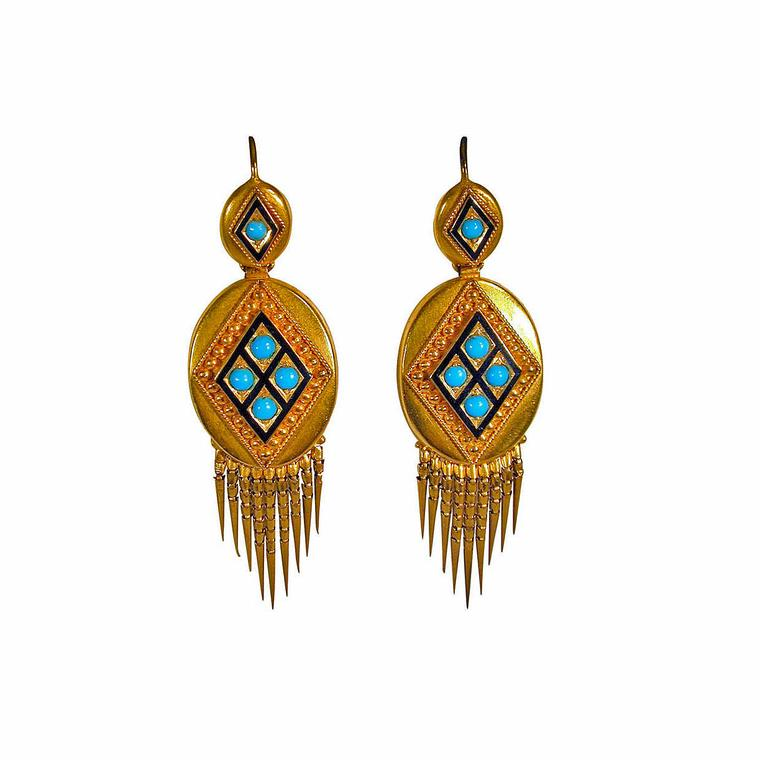 Spare Room fringe antique earrings