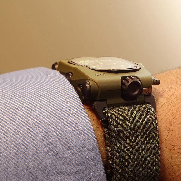Urwerk watch with Timothy Everest strap