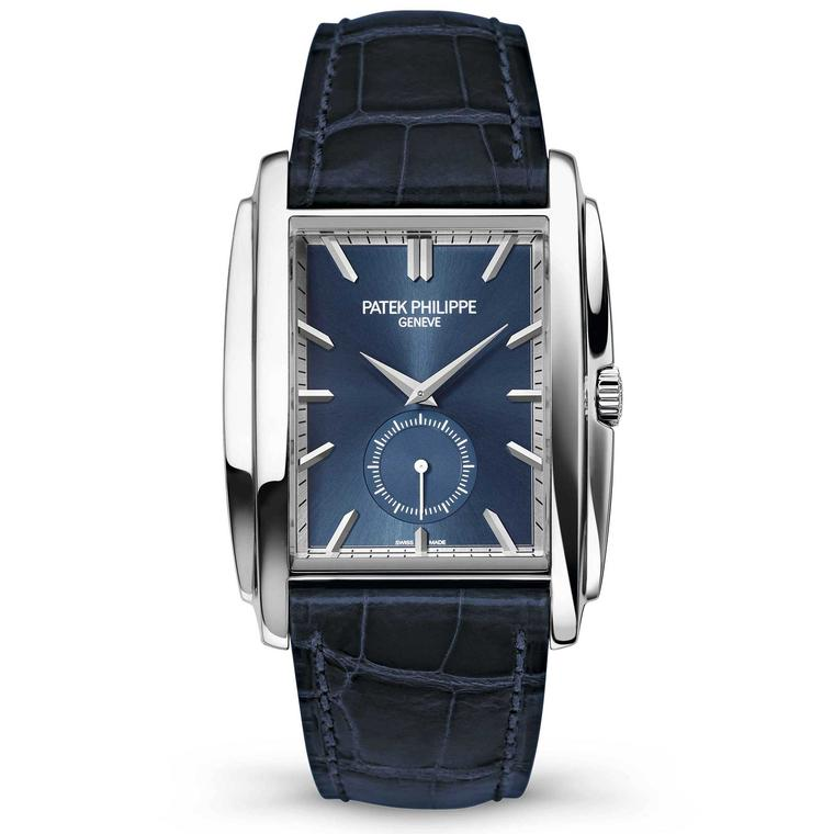 Patek Philippe Ref. 5124G Gondolo watch in white gold with a blue sunburst dial