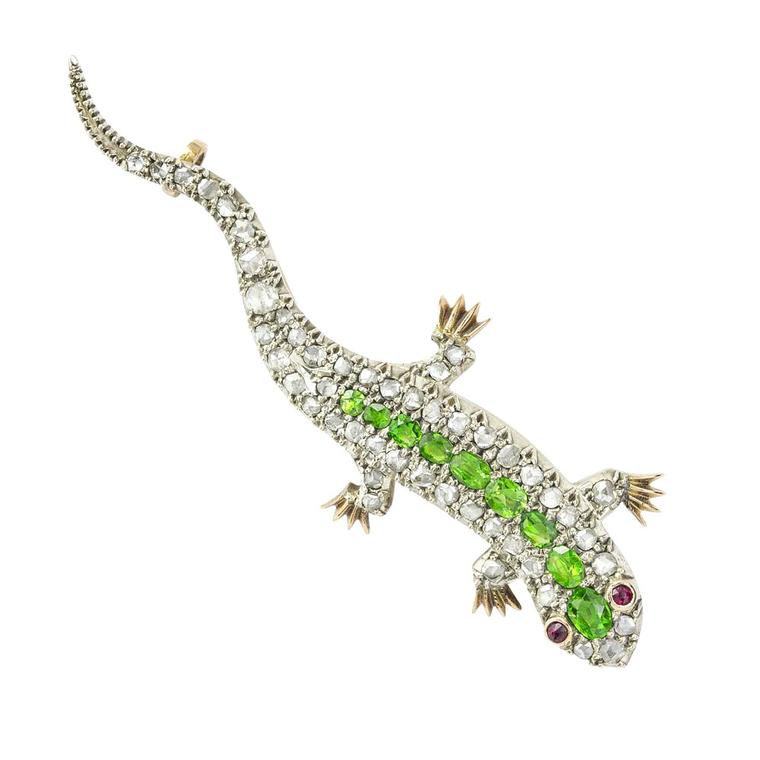 Bentley & Skinner lizard brooch