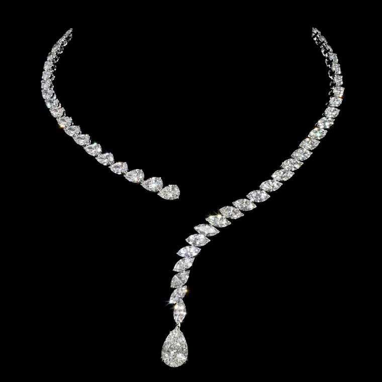 Jahan draped diamond necklace