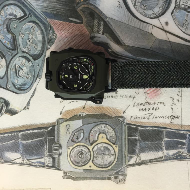 Urwerk EMC TIme Hunter watch