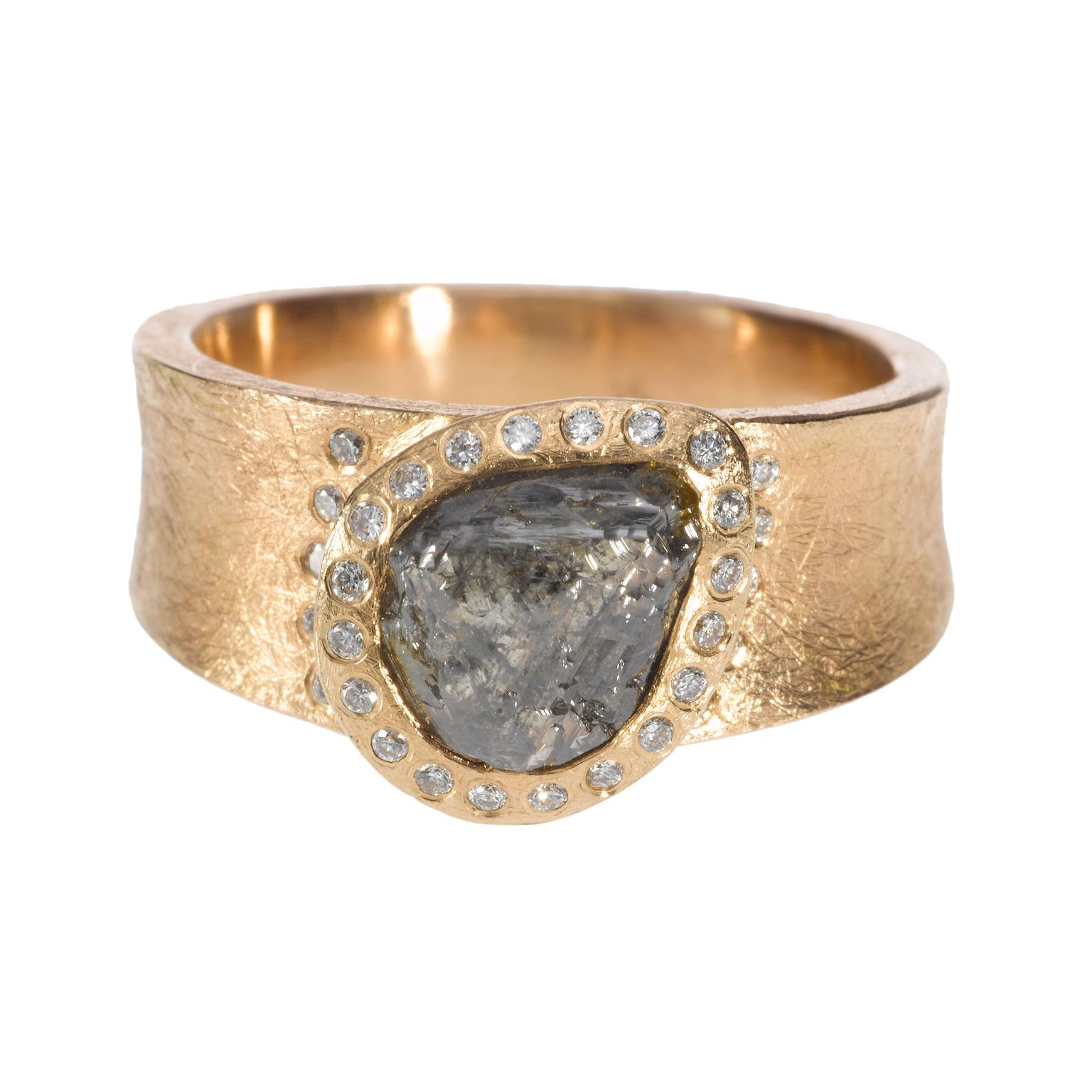 Todd Reed gold rough diamond ring