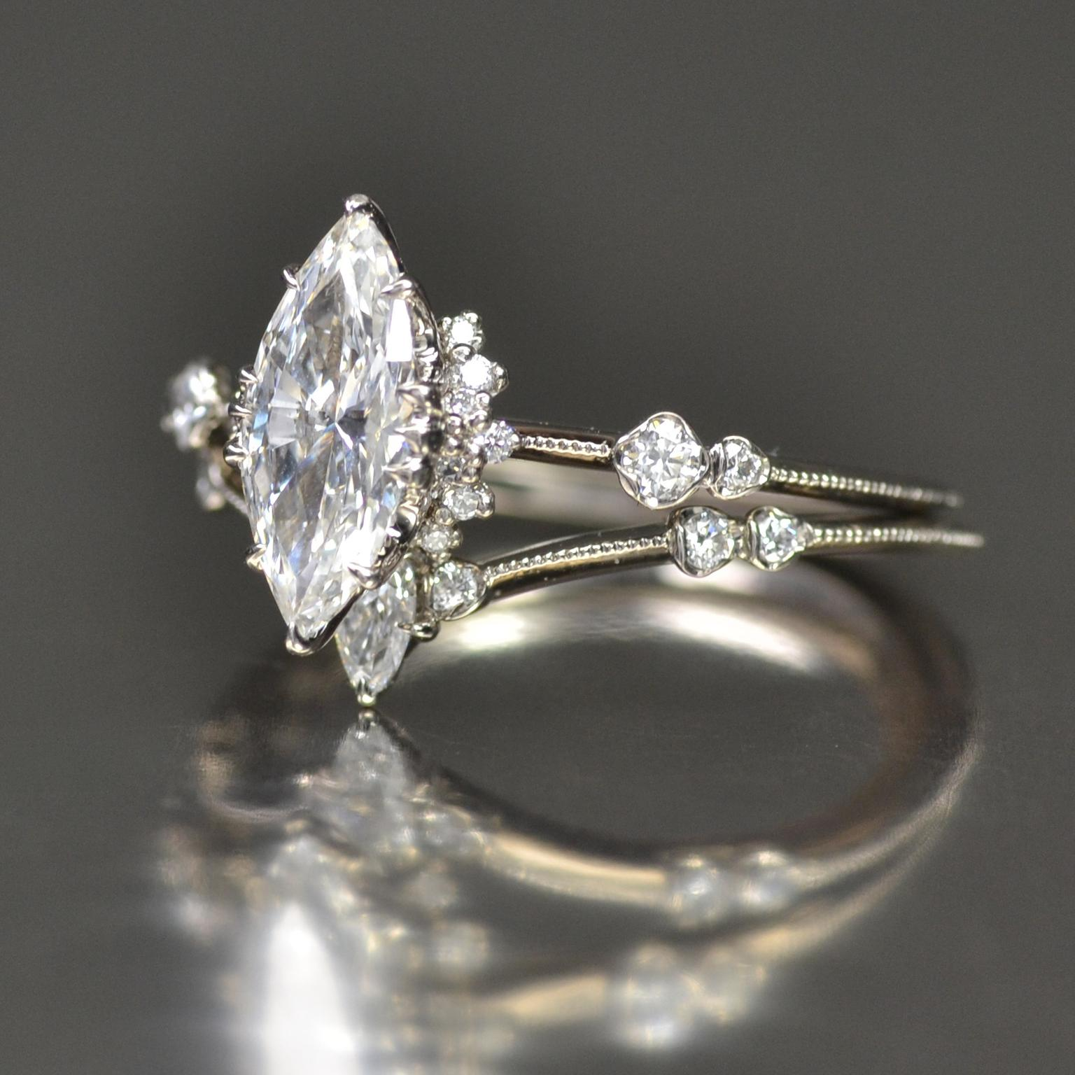 Kataoka Marquise Diamond Solitaire Ring Supreme