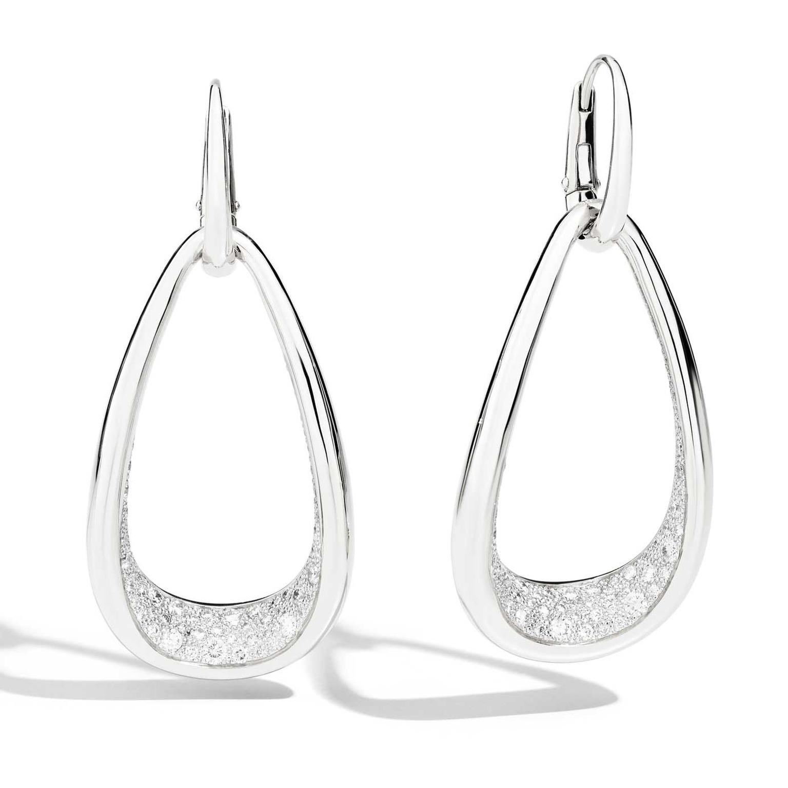 Pomellato Fantina earrings in white gold and diamonds