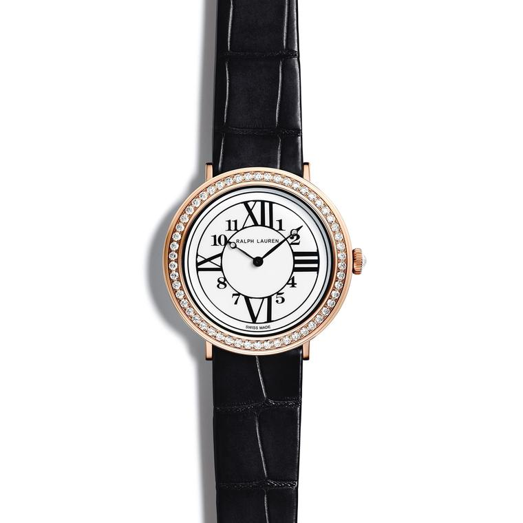 RL888 32mm watch in rose gold with diamonds
