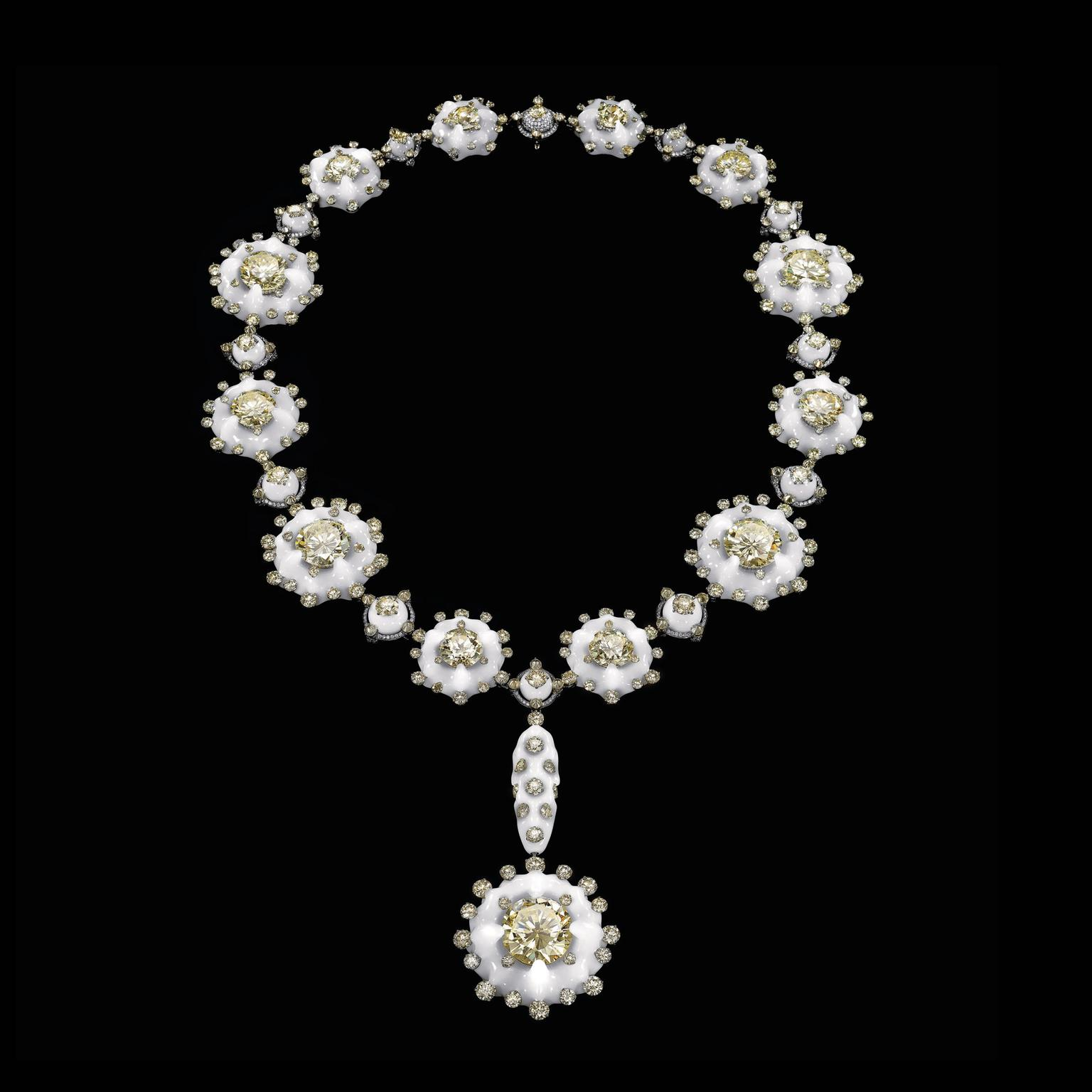 Wallace Chan Plum Flowers in Snow necklace