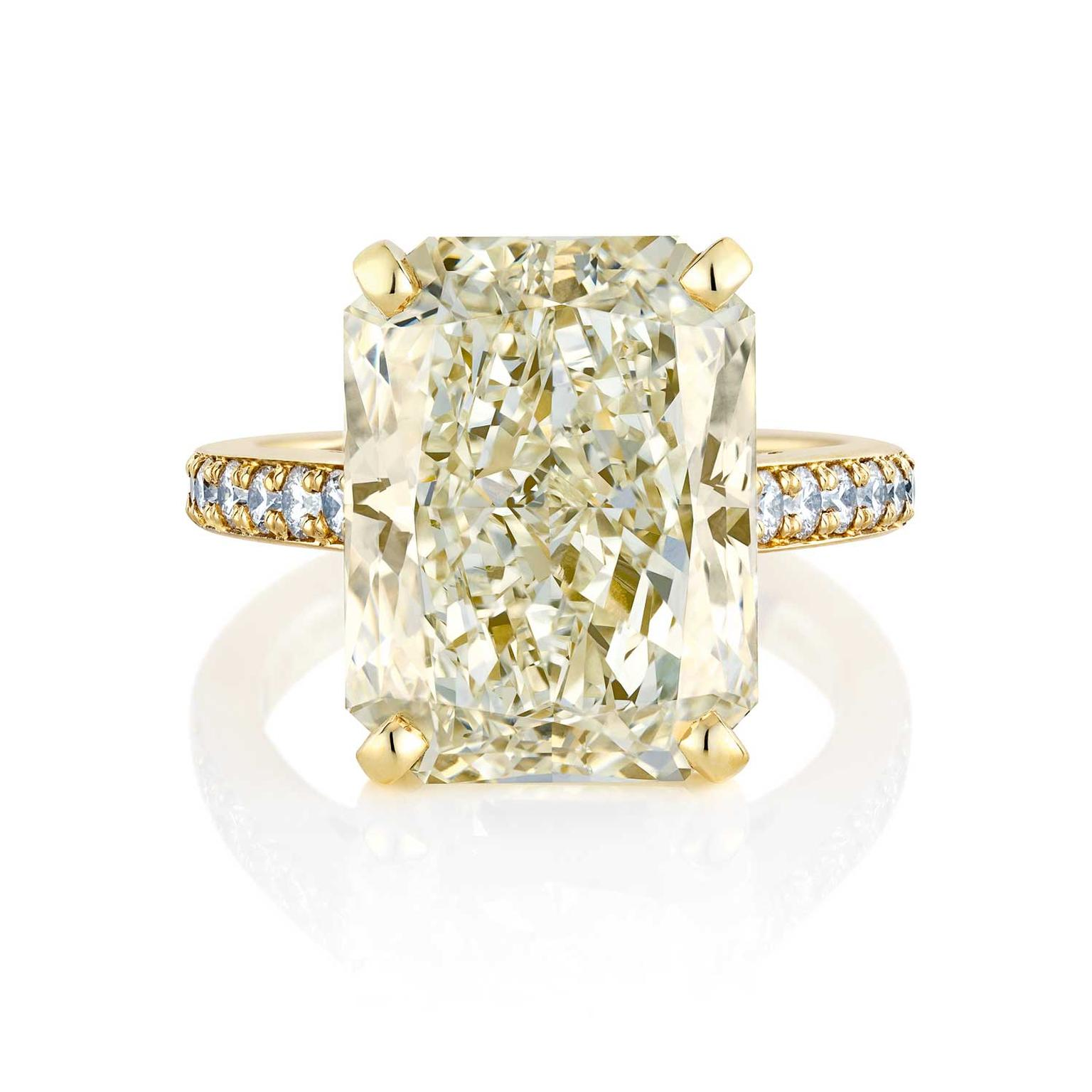 halo of diamond natural beautiful champagne and allezgisele diamonds ring engagement gold awesome rose item rings