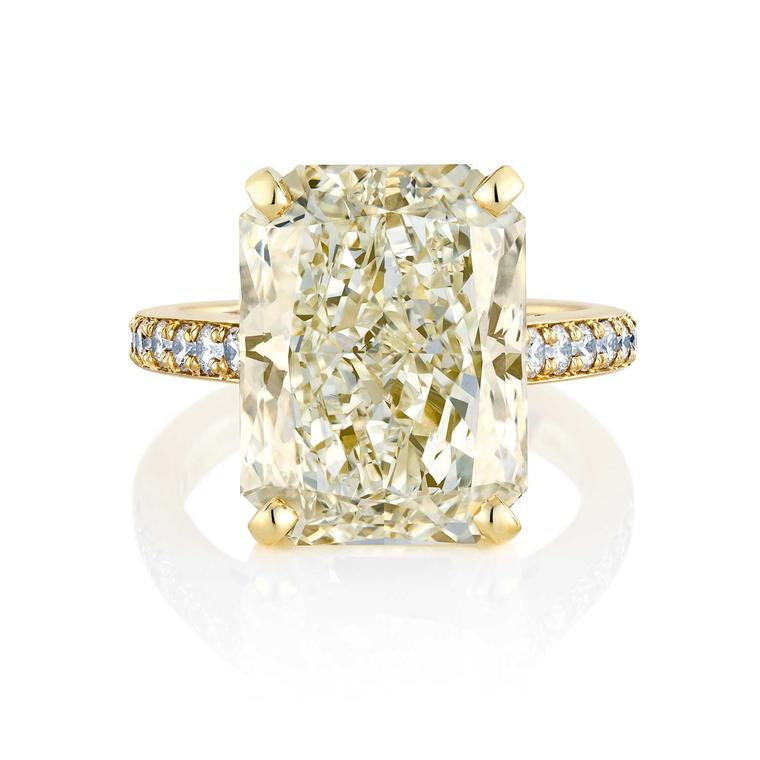 Old Bond Street 11.77 carat radiant-cut diamond engagement ring