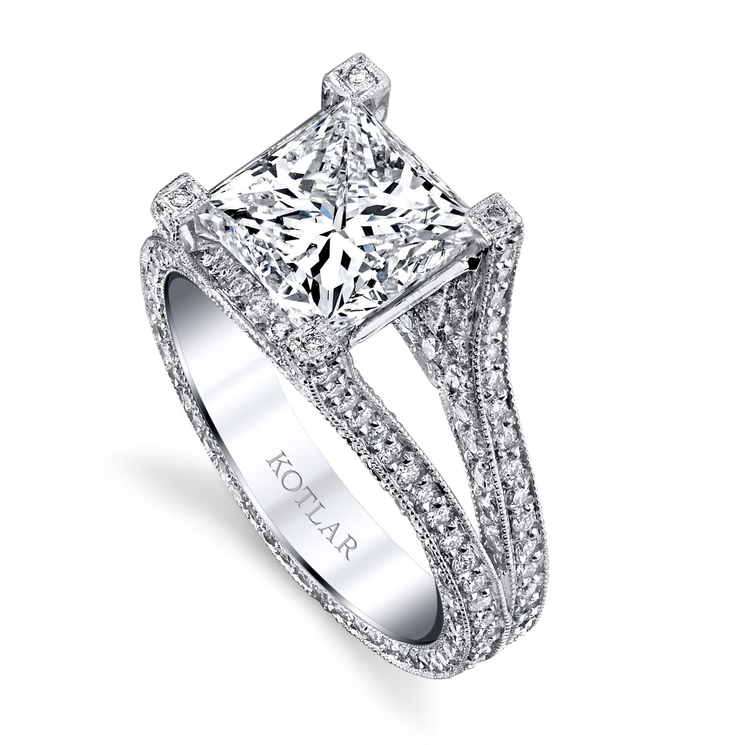 Harry Kotlar Unity princess-cut engagement ring