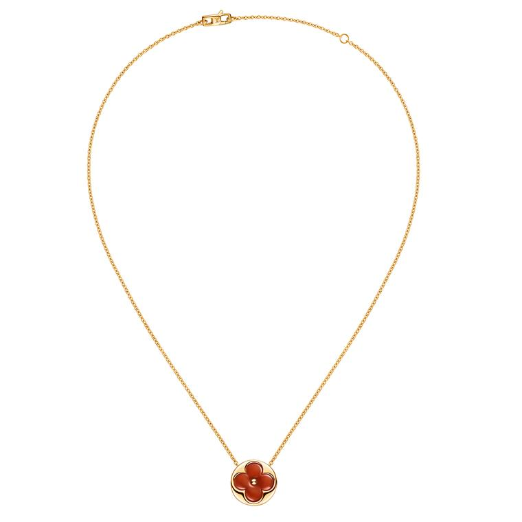 Louis Vuitton Blossom red carnelian necklace