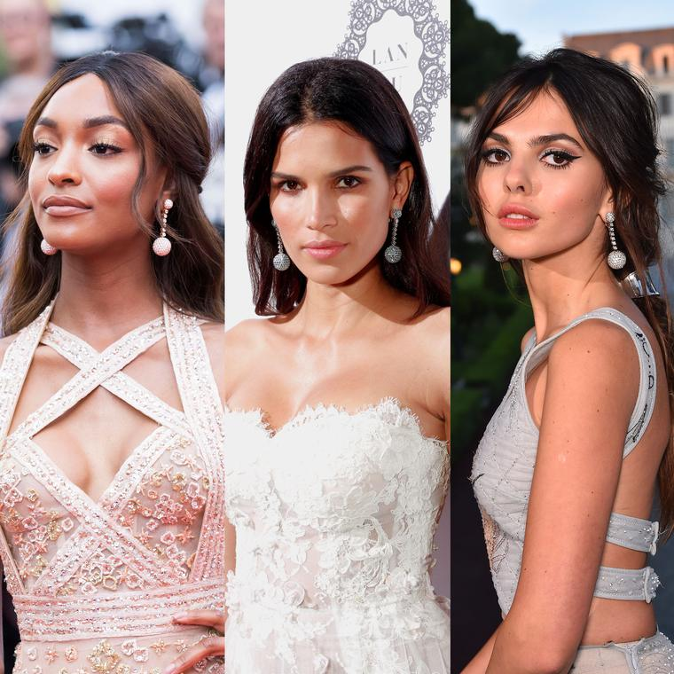 Jourdan Dunn, Raica Oliveira and Doina Ciobanu wear the same de GRISOGONO Boule earrings on the Cannes Film Festival red carpet