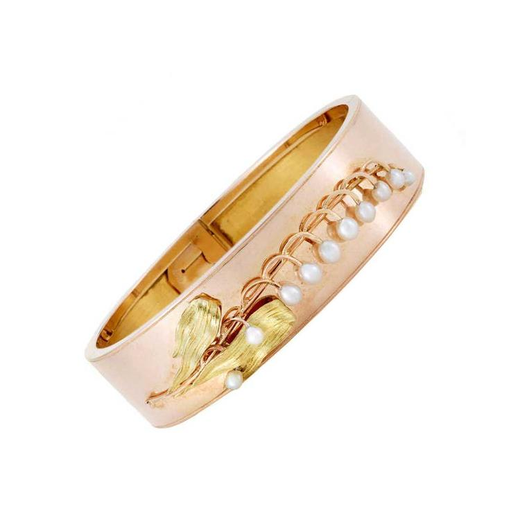 Past Era 18ct rose gold bangle