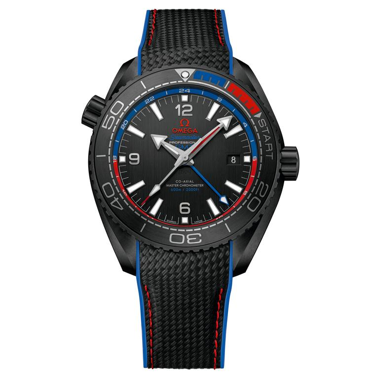 "Seamaster Planet Ocean Emirates Team New Zealand ""Deep Black"" Master Chronometer watch"