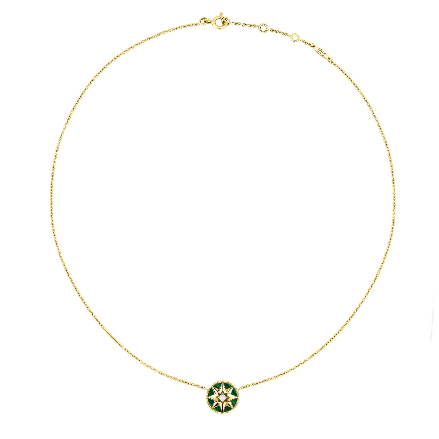 Dior Rose des Vents malachite necklace