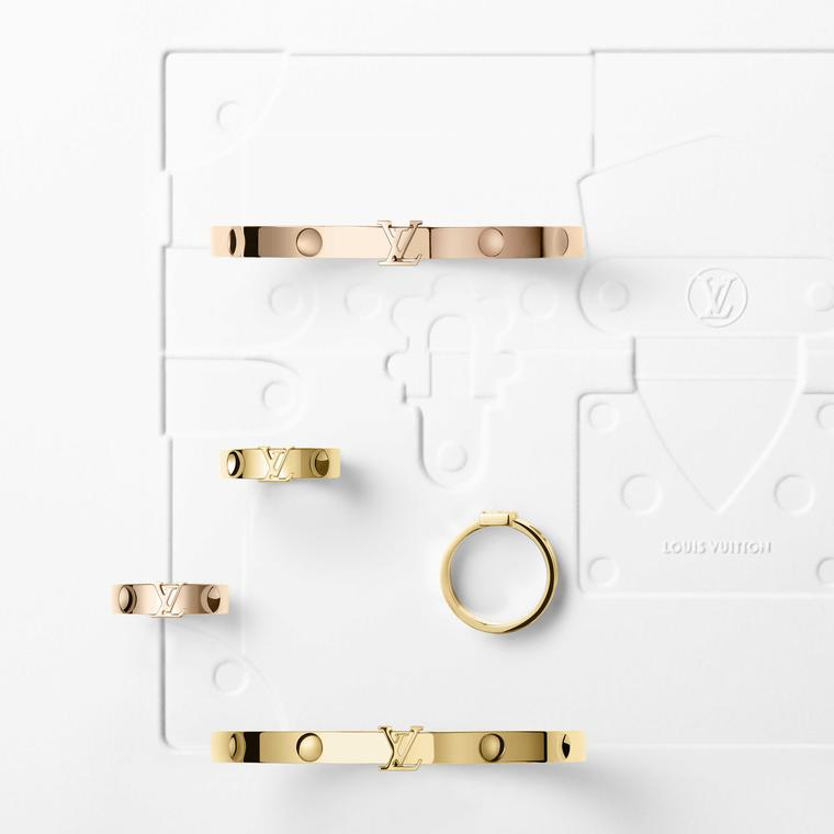 Louis Vuitton Empreinte yellow and rose gold rings and bangles