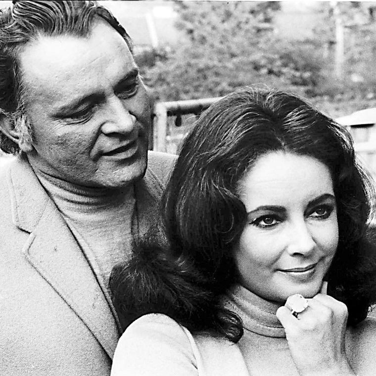 Beth Bernstein book p67 Richard Burton and Elizabeth Taylor wearing Krupp diamond ring