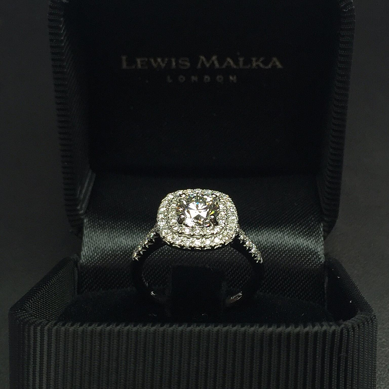 rings image two is ct itm ring vintage tone engagement d cushion halo loading double cut diamond
