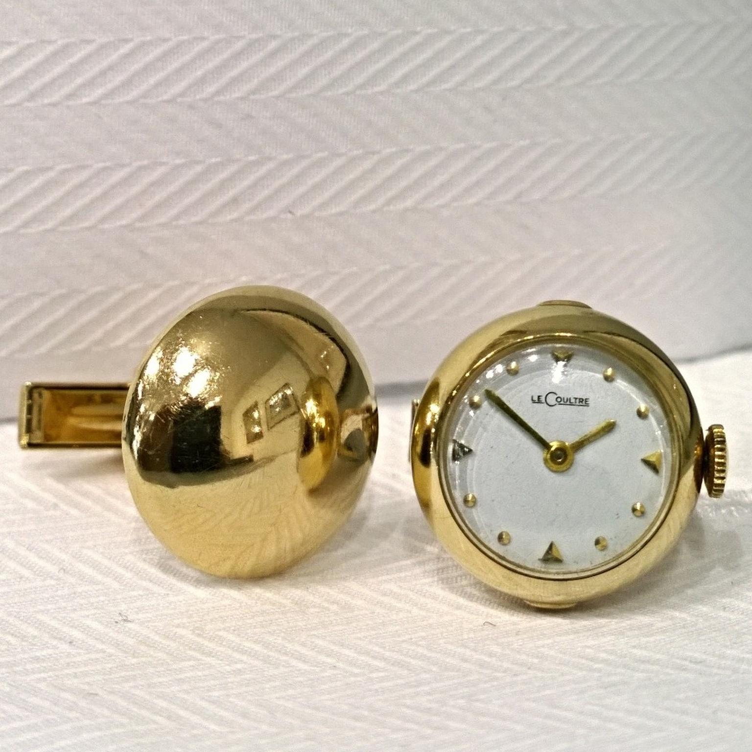 Jaeger LeCoultre vintage cufflink watches
