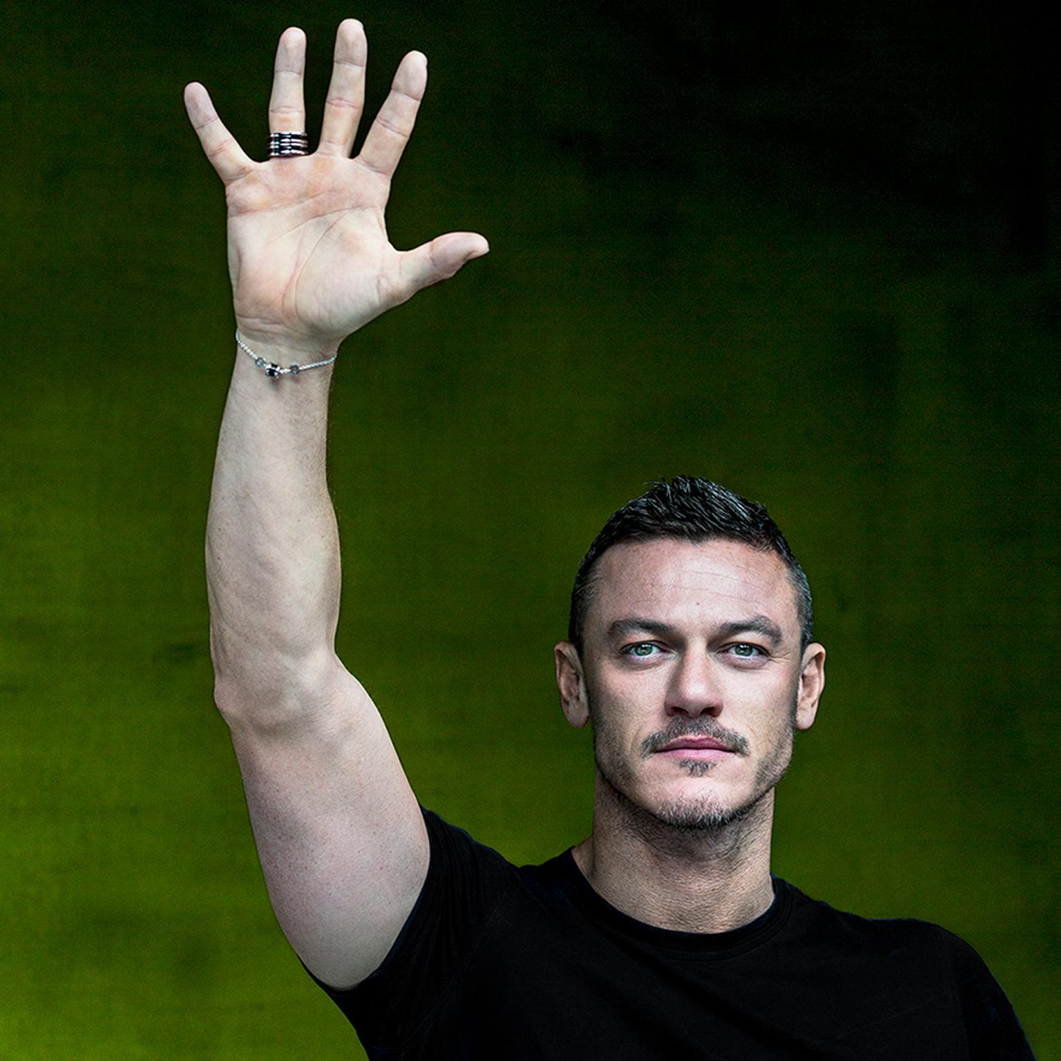 Luke Evans in Bulgari's Raise your Hand campaign