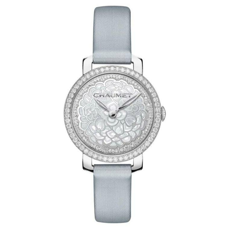 Chaumet Hortensia watch with a mother-of-pearl dial