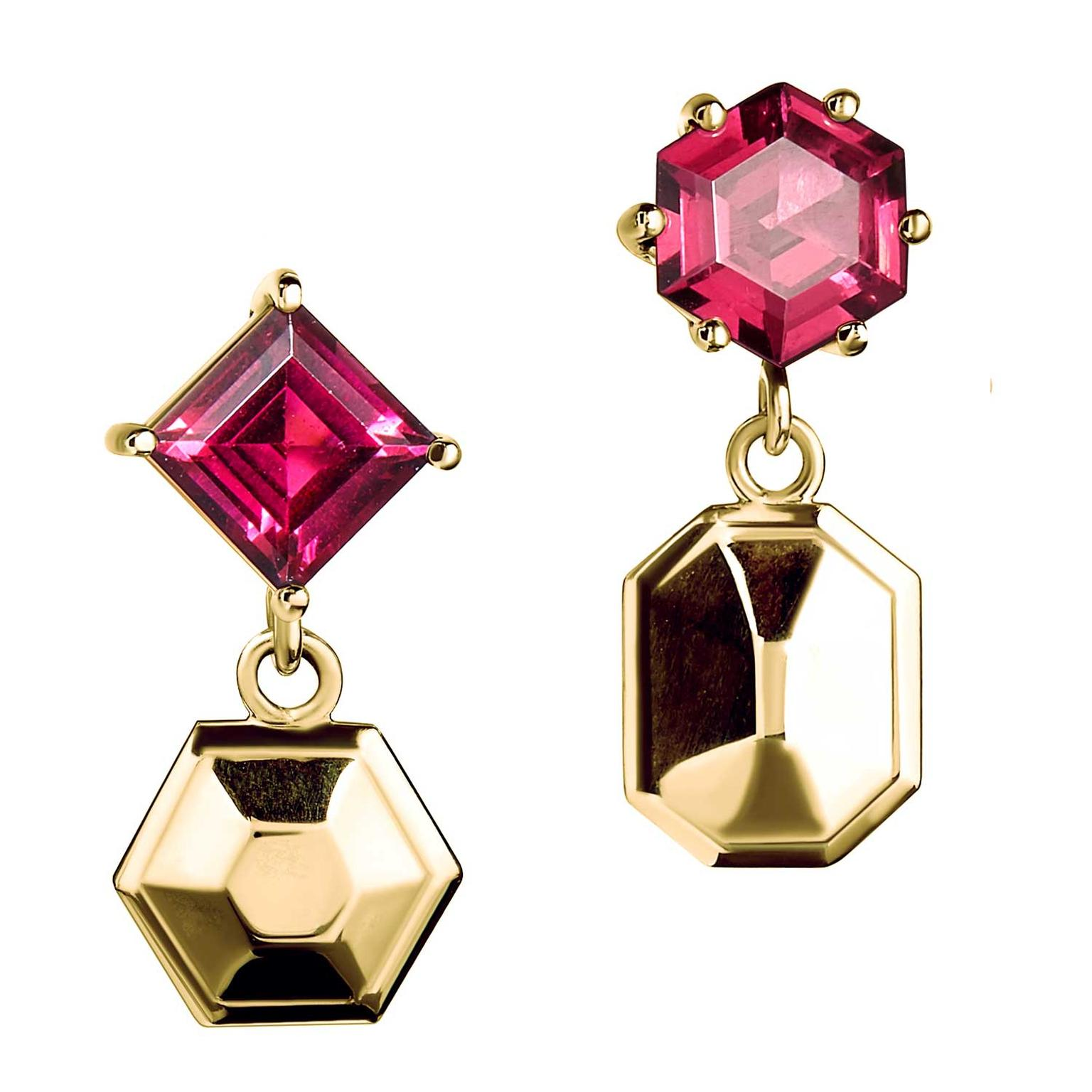 Tessa Packard Puzzle rhodolite garnet earrings