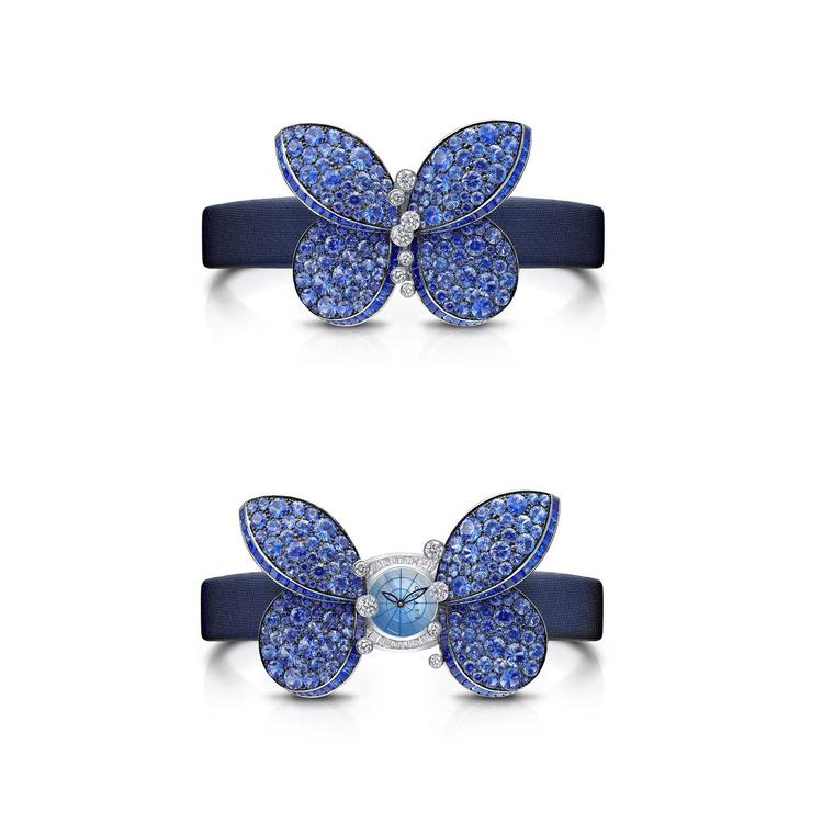 Princess Butterfly sapphire secret watch