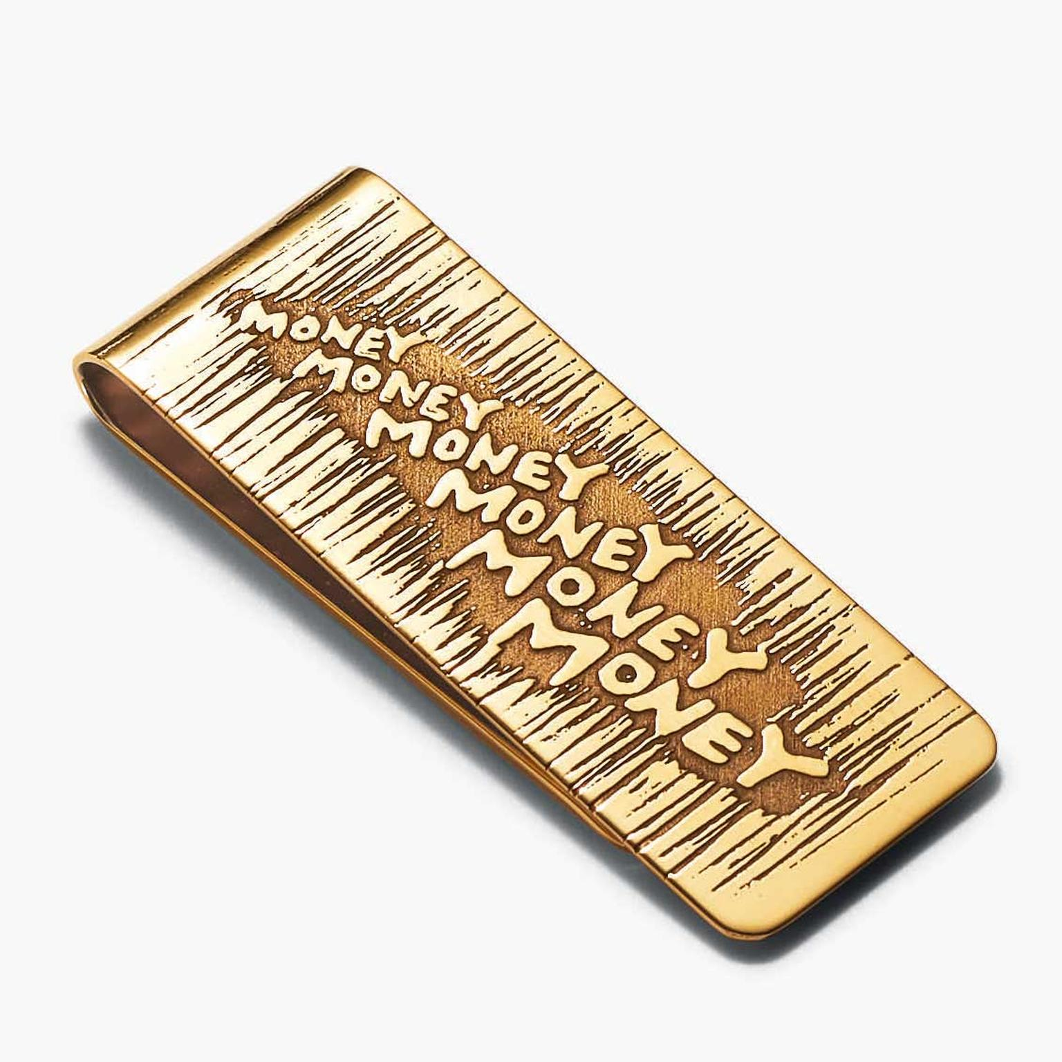 Tiffany Out of Retirement gold money clip, based on a design from 1955