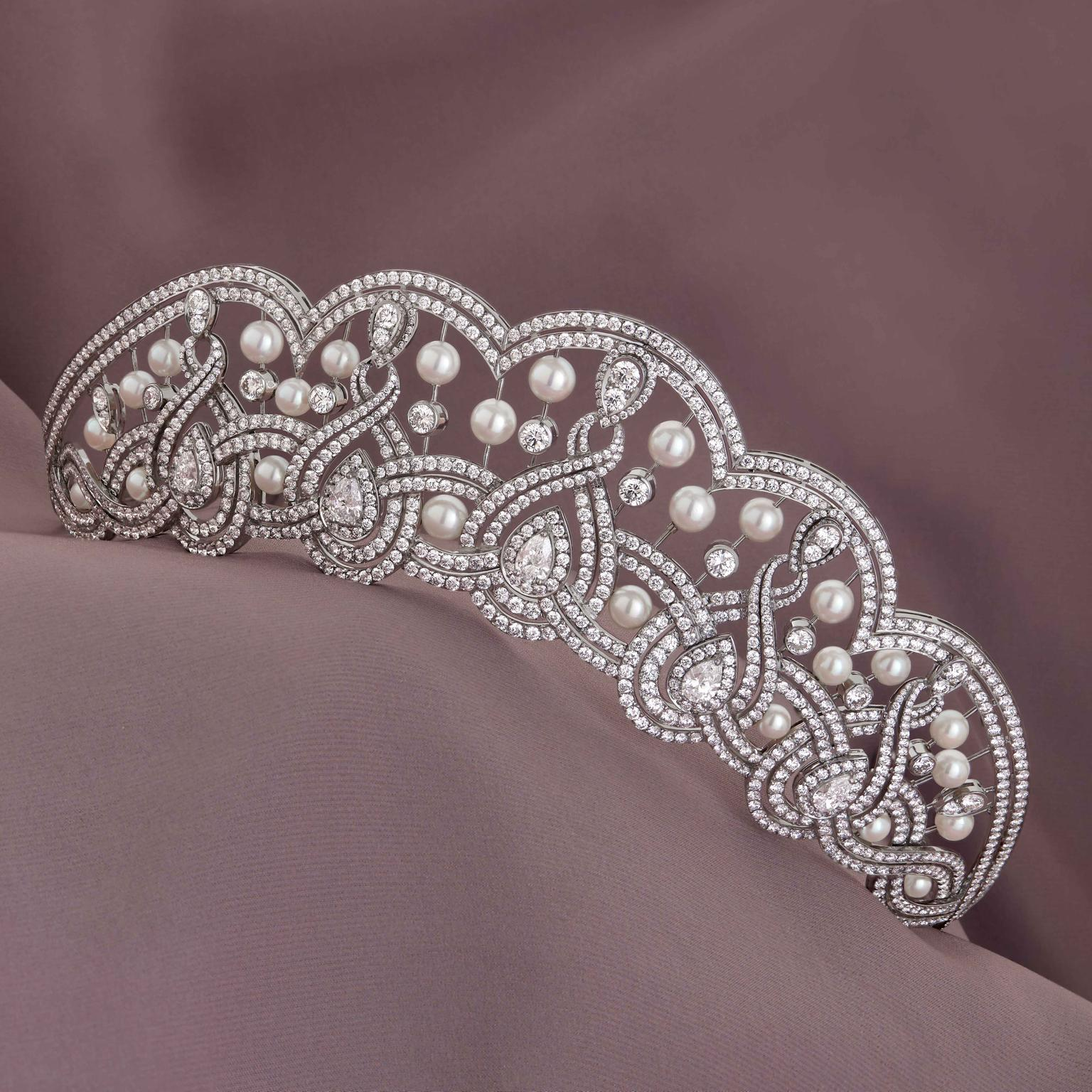 Garland tiara by Garrard