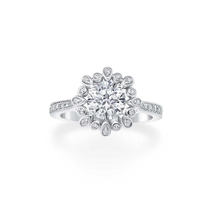 Harry Winston Blossom engagement ring