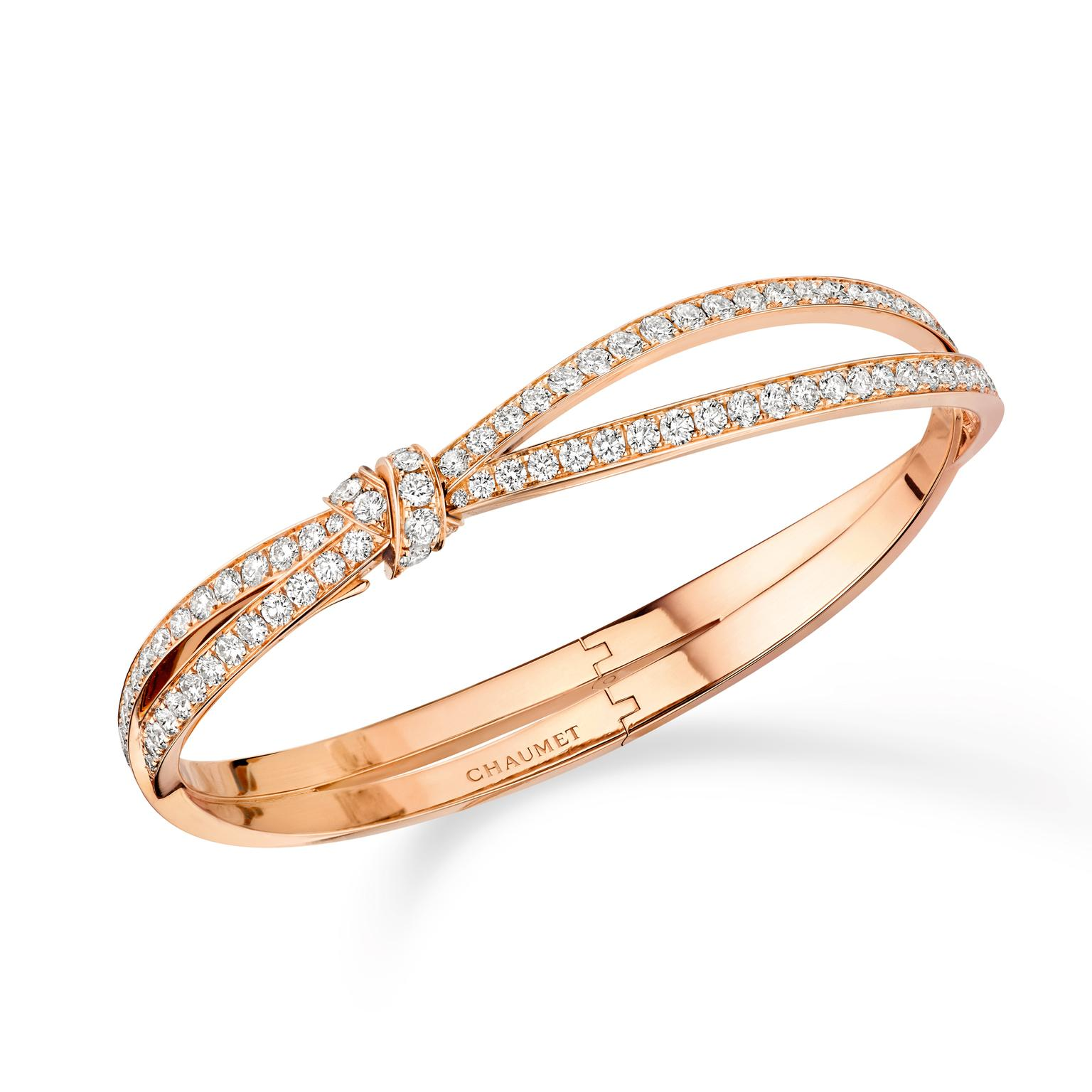 Chaumet Séduction rose gold bracelet with diamonds