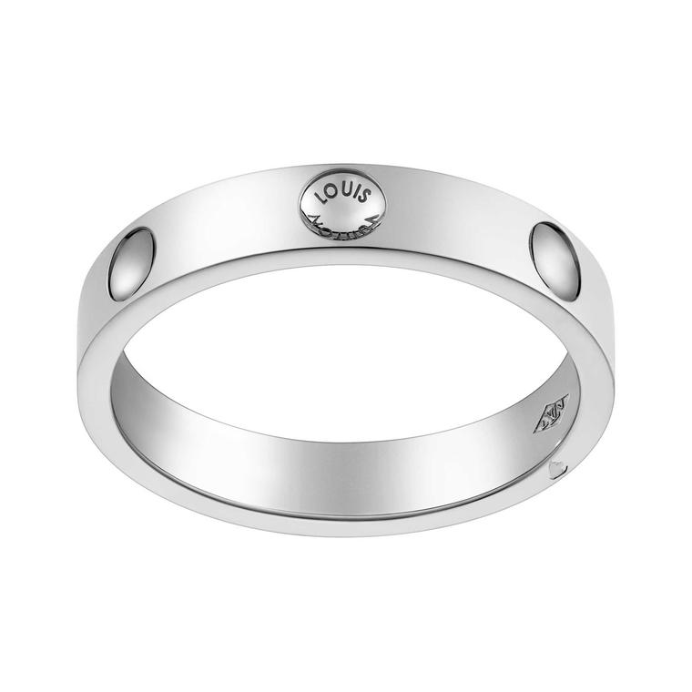 Louis Vuitton Empreinte Alliance ring in platinum
