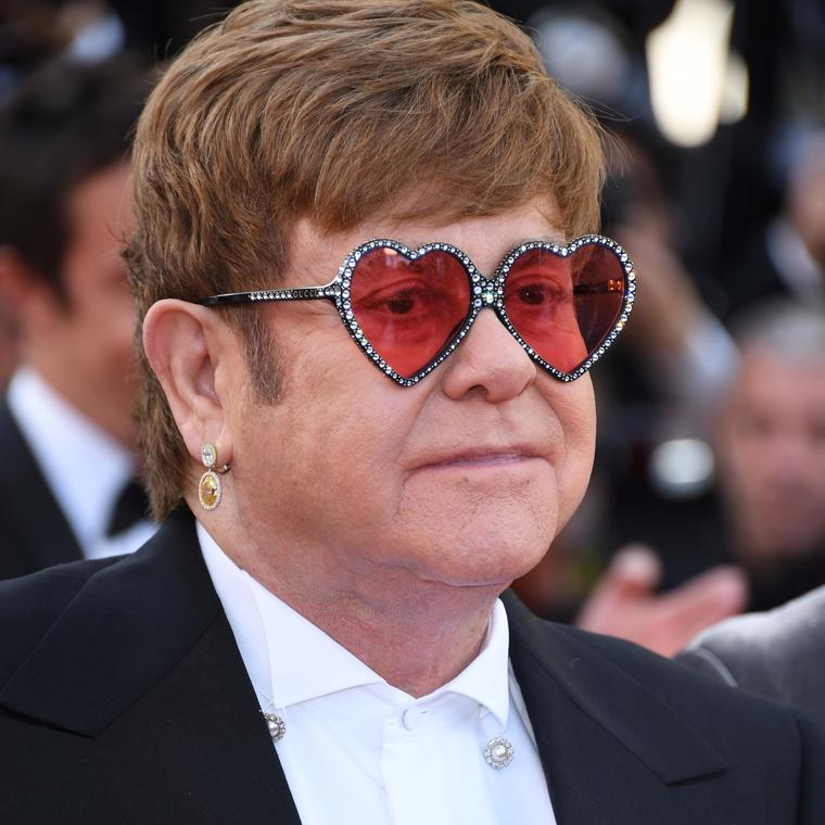 Elton John in Chopard jewels Cannes Film Festival 2019
