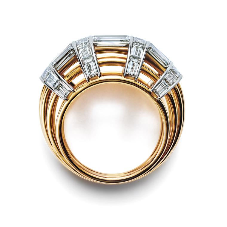 Masterpieces Jean Schlumberger baguette diamond cocktail ring