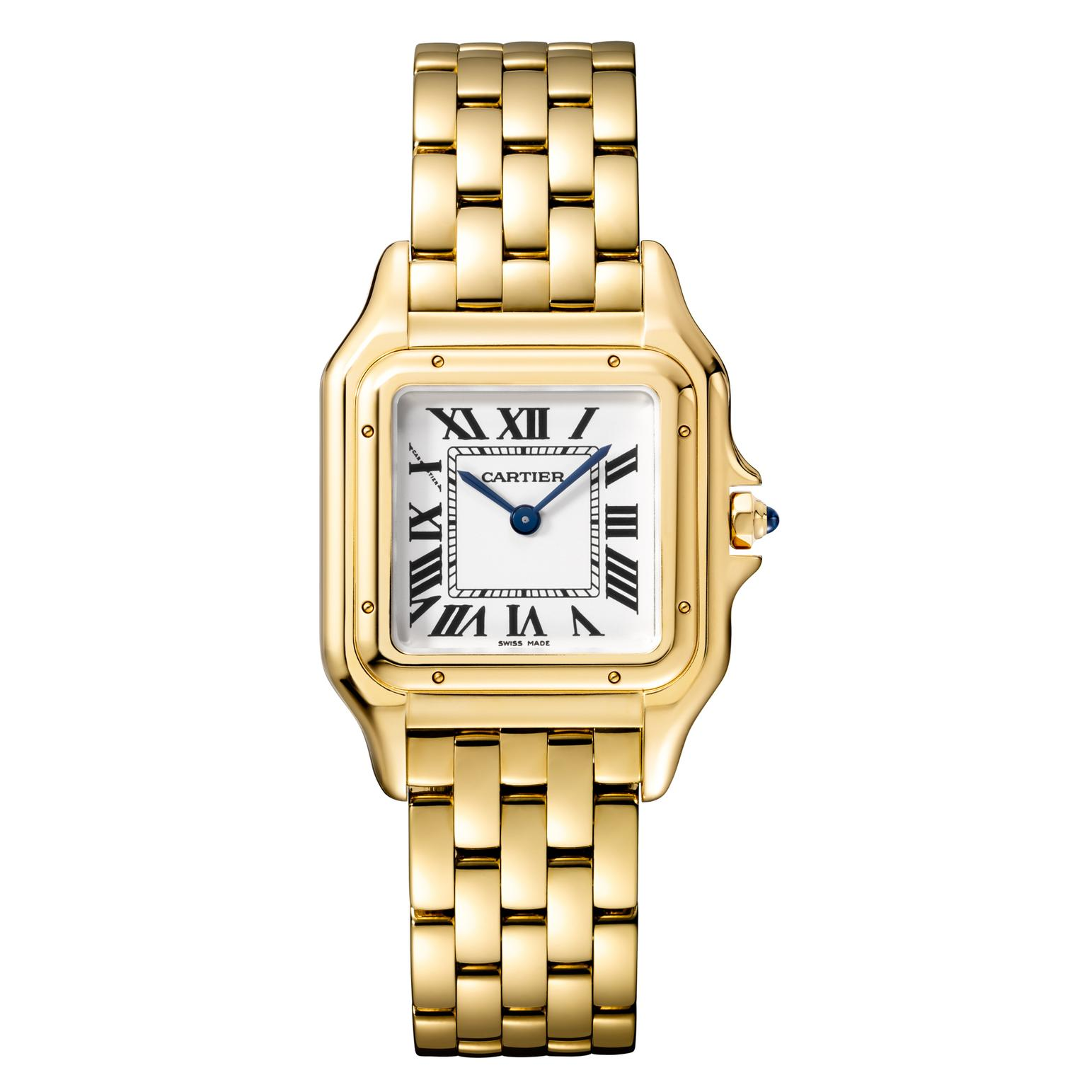 Medium size Panthère de Cartier watch in yellow gold