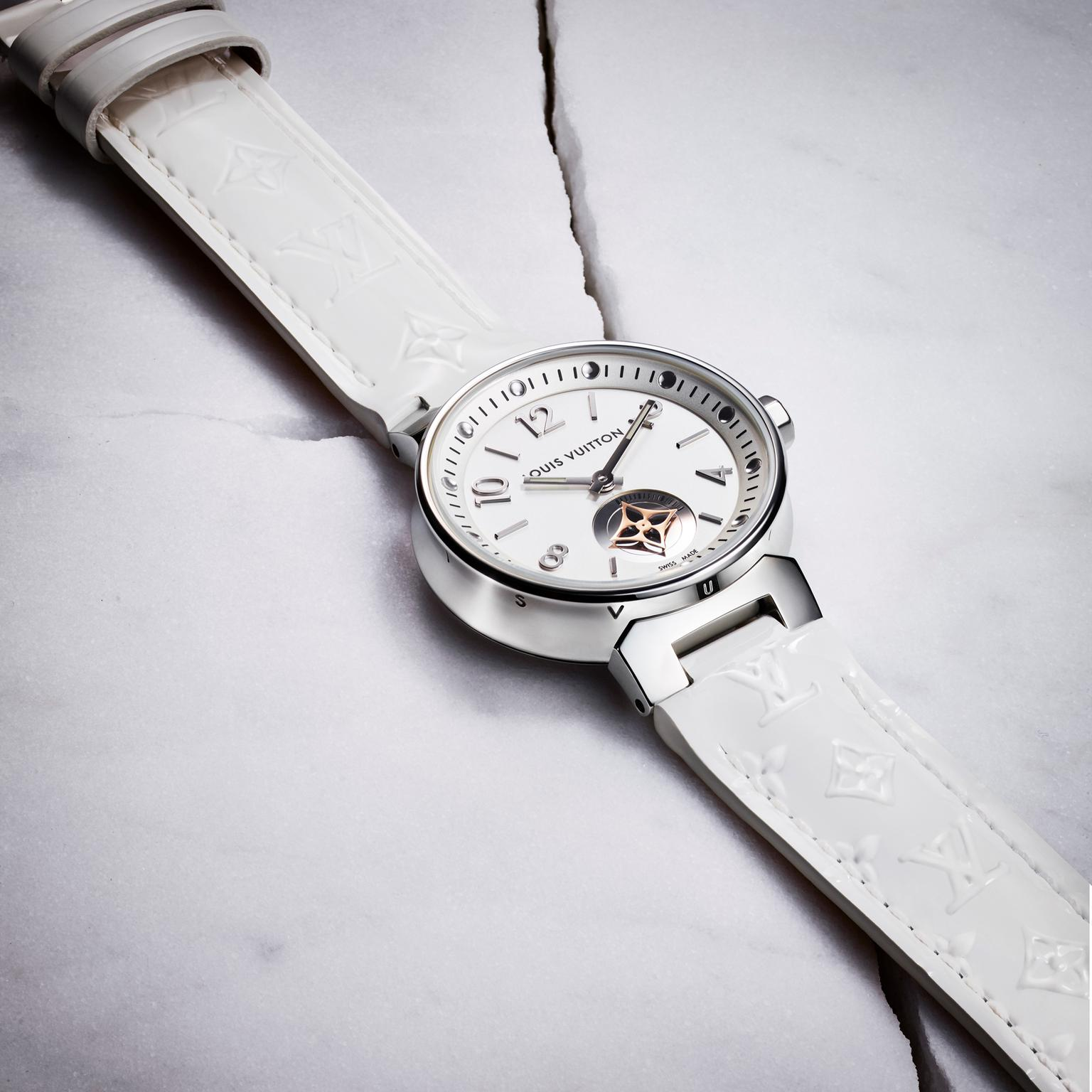 Louis Vuitton Tambour Moon Star Seconde White watch