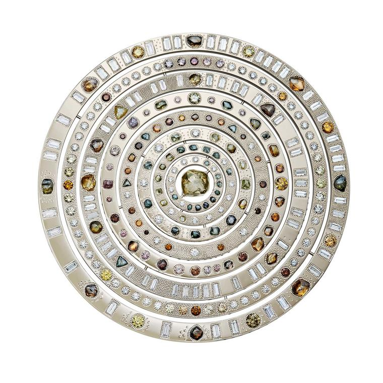 De Beers Talisman Wondrous Sphere with rough diamonds