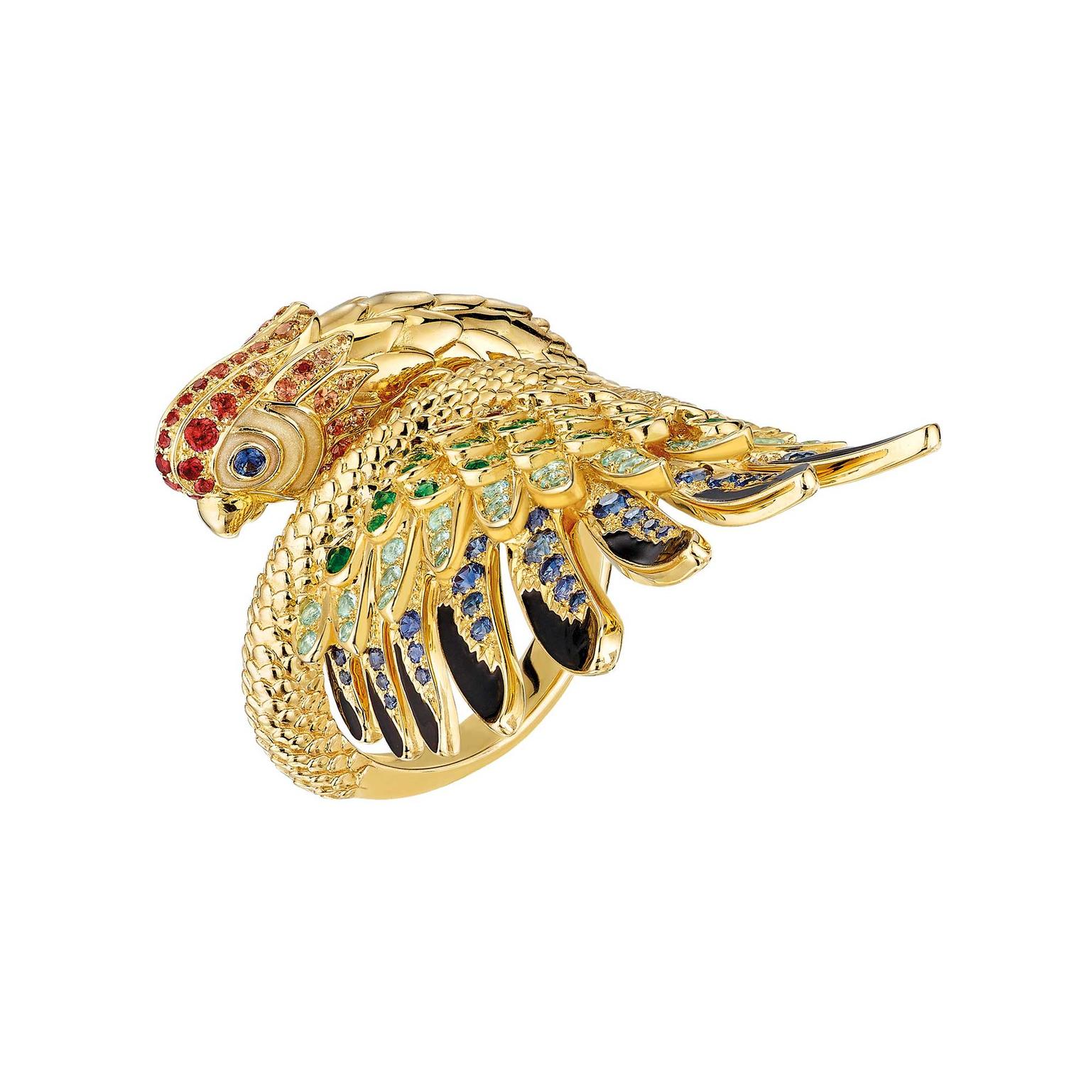 Lalique Perroquet parrot ring