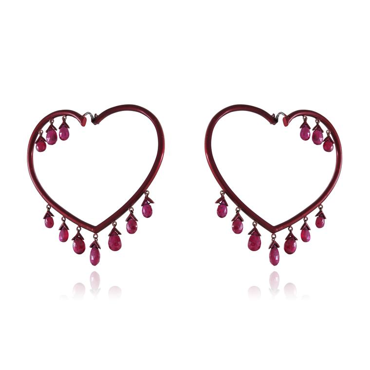 Lydia Courteille Scarlett Empress ruby earrings