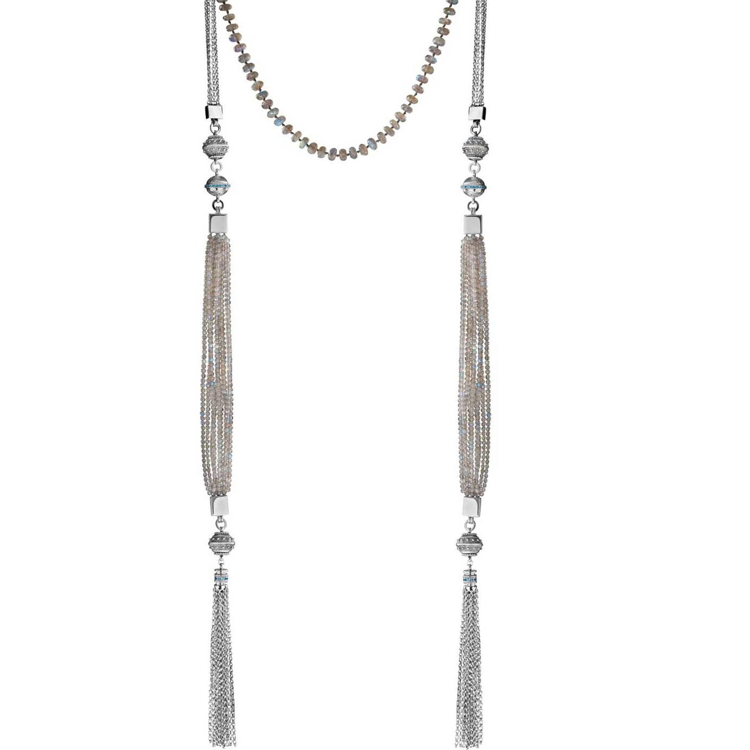 Azza Fahmy grey lariat necklace