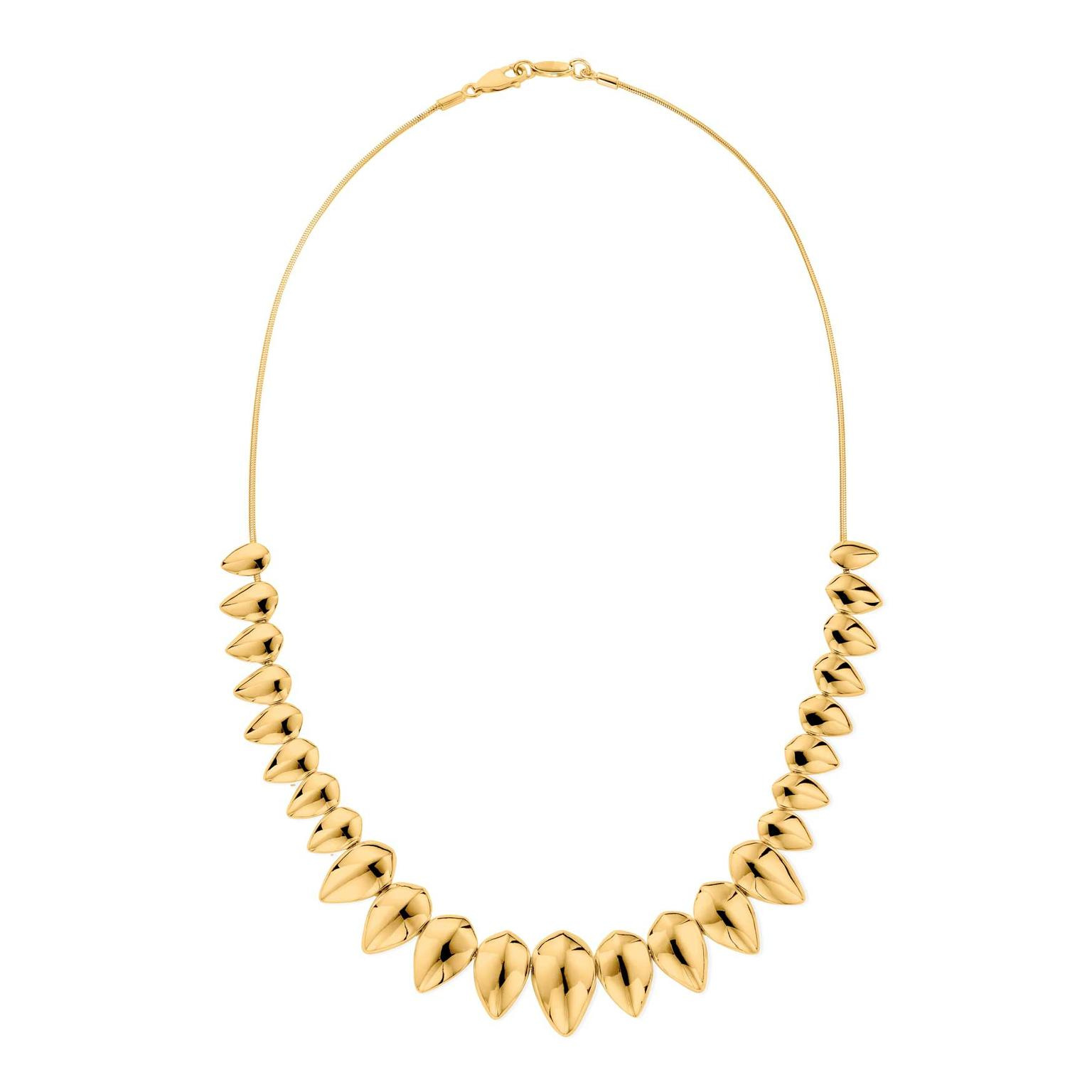 Patrick Mavros Pangolin yellow gold necklace