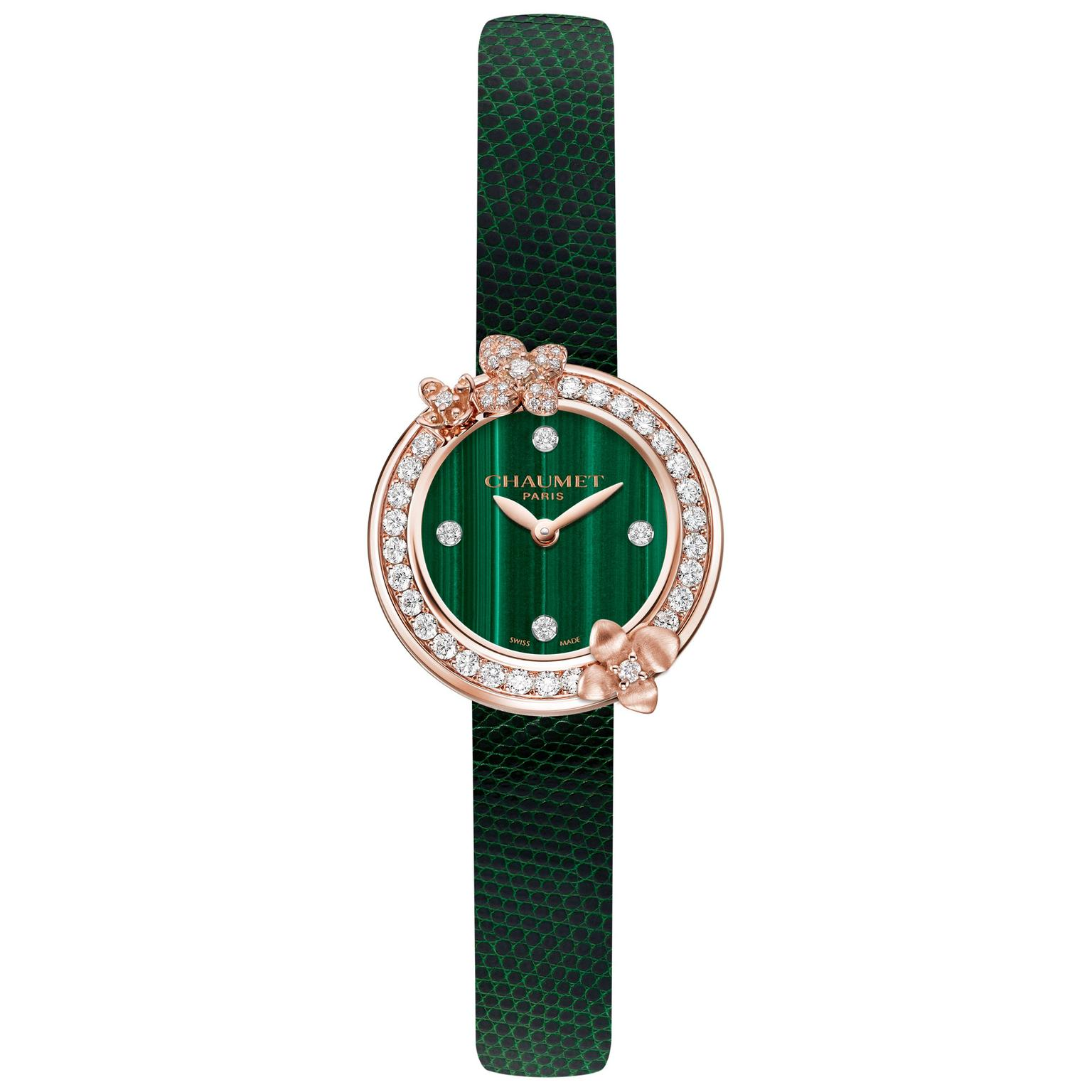 Hortensia Eden watch with malachite dial