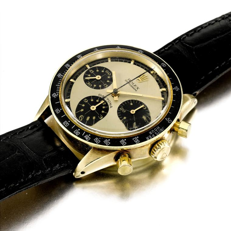 Rolex Cosmograph Daytona Paul Newman yellow gold watch