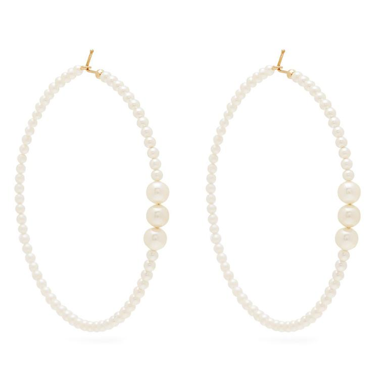 Mizuki pearl-embellished earrings