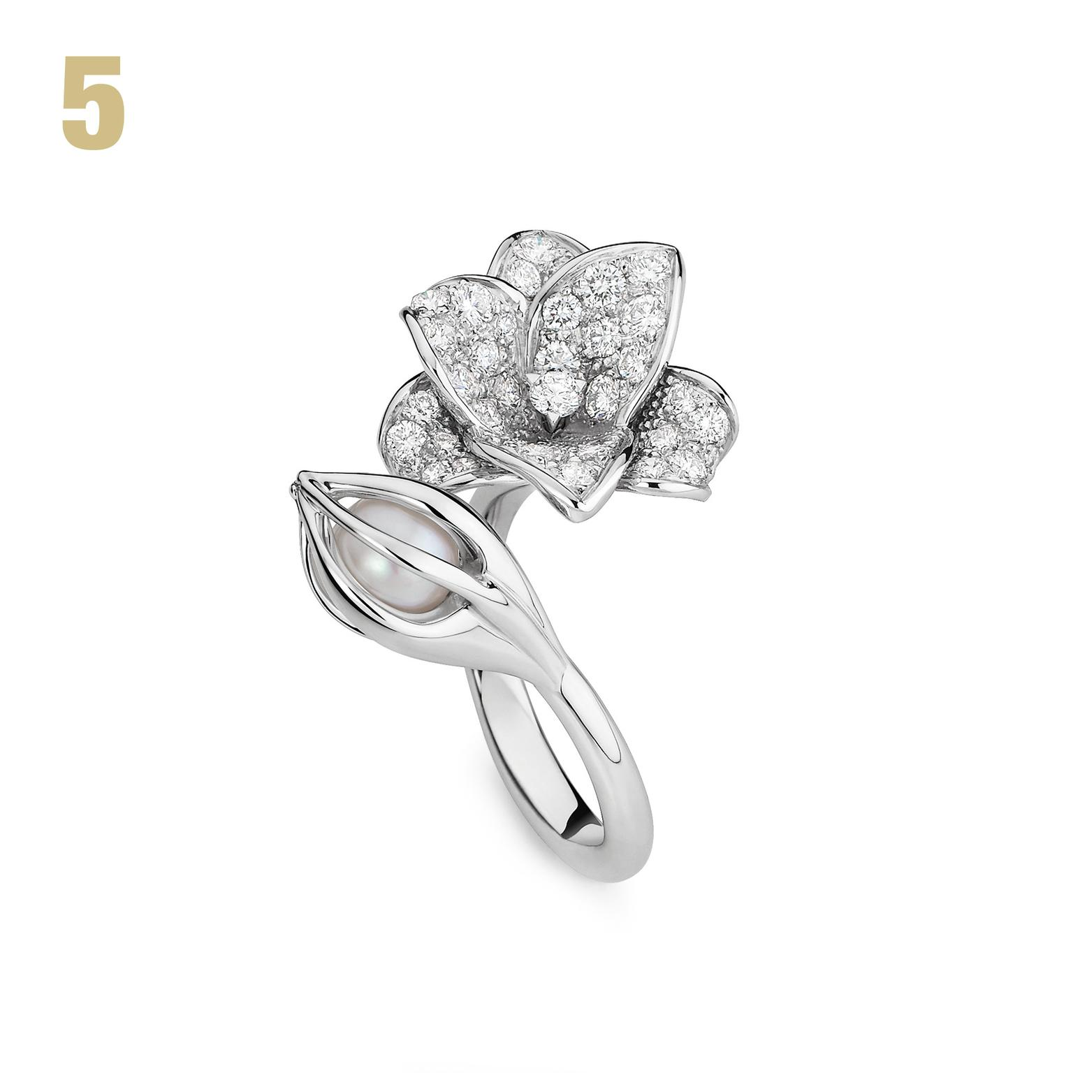 Mellerio dits Meller diamond and pearl ring